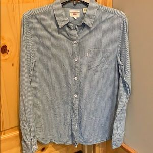 Levi's pinstriped denim button down